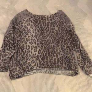 Rachel Roy three-quarter length cheetah shirt